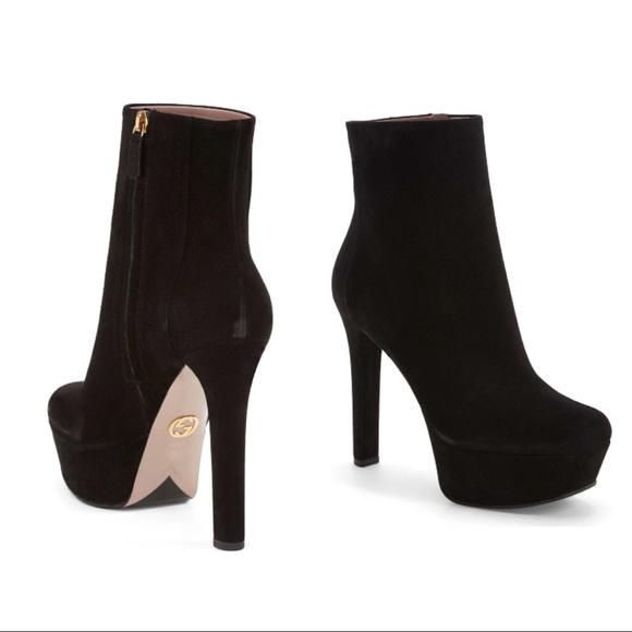 2c7b0f99e173 Gucci Shoes - Gucci Leila Suede Platform Booties 7.5